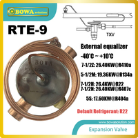 RTE 9 TEV large flat diaphragm permits precise valve control coolant flow rate, replacing Sporlan Thermostatic Expansion Valves
