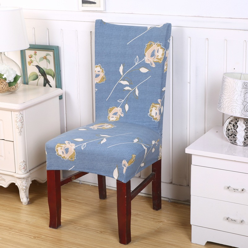 Spandex Stretch Chair Covers Polyester Printed Elastic Dining Chair