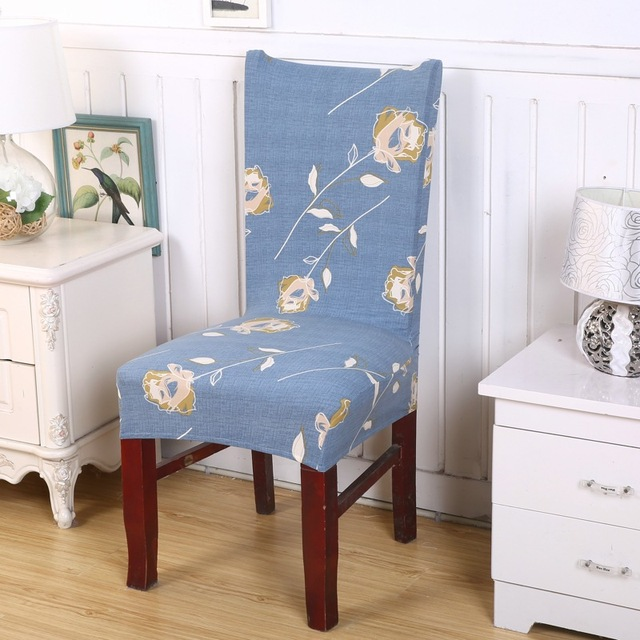 light blue dining chair covers ikea gilbert spandex stretch polyester printed elastic for weddings party hotel