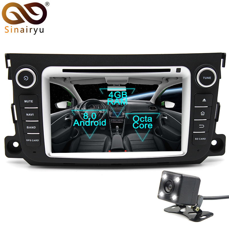 Sinairyu Android 8 0 Octa Core Car DVD Player for Mercedes Benz Smart Fortwo GPS Navigation