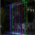 LED Curtain String led strip lights 3X3M AC220V 110V US AU UK EU standard led Christmas decoration lights outdoor colorful lamp
