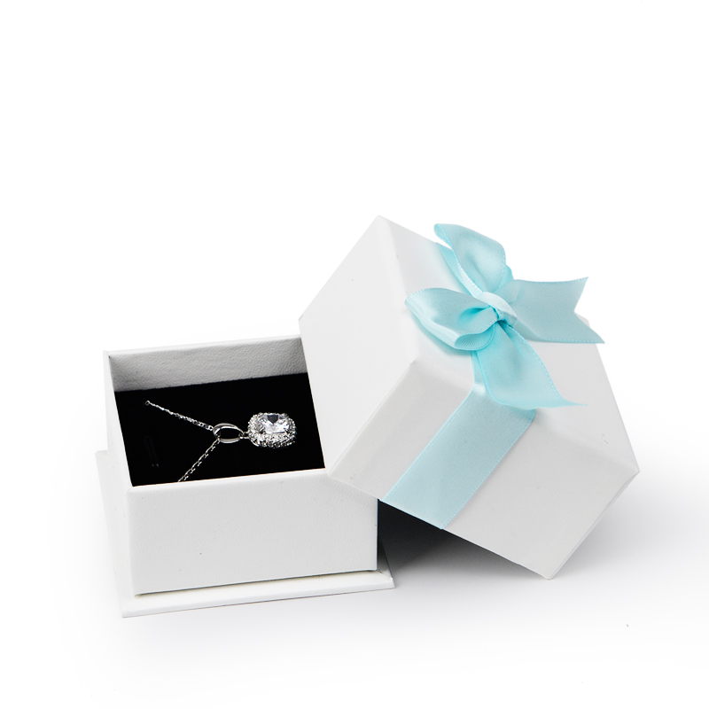 6 PCS/LOT  Jewelry Gift Paper Box with Bow-knot Wedding Party Ring  Pendant Earrings Storage Box  Jewelry Organizer  Showcase
