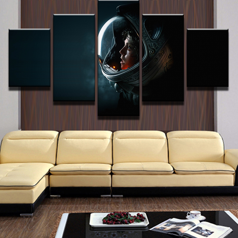 5 Panel Science Fiction Movie Modular Pictures Home Decor Canvas ...