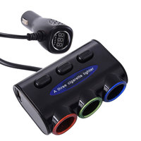 12V 24V Multi Socket Auto Car Cigarette Lighter Splitter USB Power Adapter Charger With Switch Charger