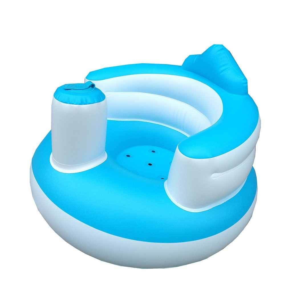 Eating Bathing And Lounging wenhe Portable Baby Seat Booster Learn To Sit Sofa,Inflatable Bath Chair PVC Sofa Shower Stool For Playing