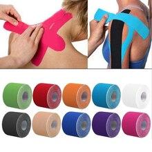 Cinta de kinesiología atlética de 2 tamaños, cinta de recuperación deportiva, flejado para gimnasio, Fitness, tenis, correr, Protector de rodilla, tijera muscular