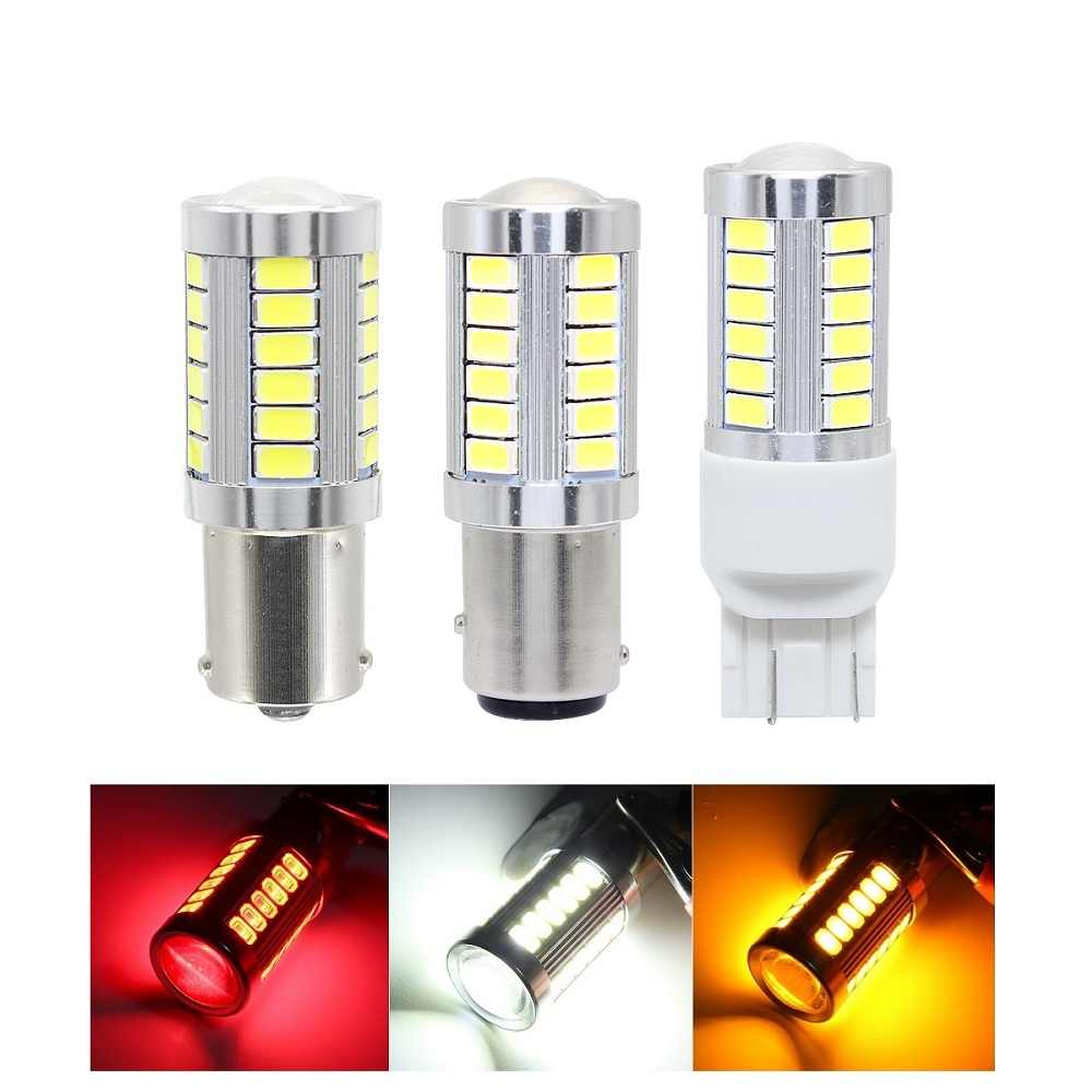 ANBLUB 1pcs 1156 1157 7440 T20 Car Turning Light 33 SMD 5630 5730 Auto Tail Brake Light Reverse Bulb Signal Lamp 12V DRL Lights