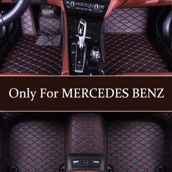 Car floor mat custom for MERCEDES BENZ CL CLA CLK CLS ML GL GLA GLS ML GL GLA GLC GLE GLK GLS SL SLC SLK AMG Maybach Viano model