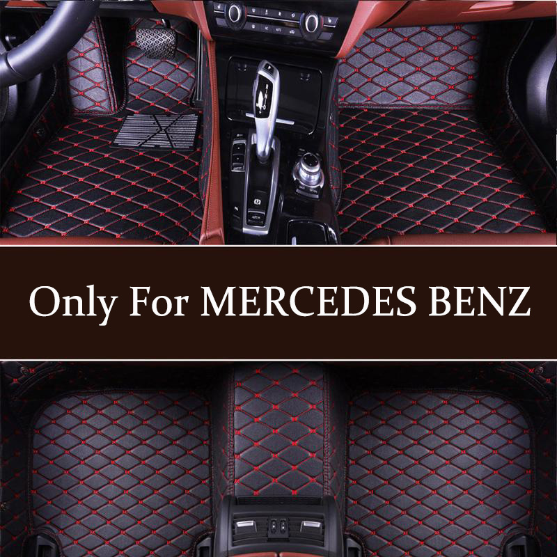 Car floor mat custom for <font><b>MERCEDES</b></font> BENZ CL CLA CLK CLS ML GL <font><b>GLA</b></font> GLS ML GL <font><b>GLA</b></font> GLC GLE GLK GLS SL SLC SLK <font><b>AMG</b></font> Maybach Viano model image