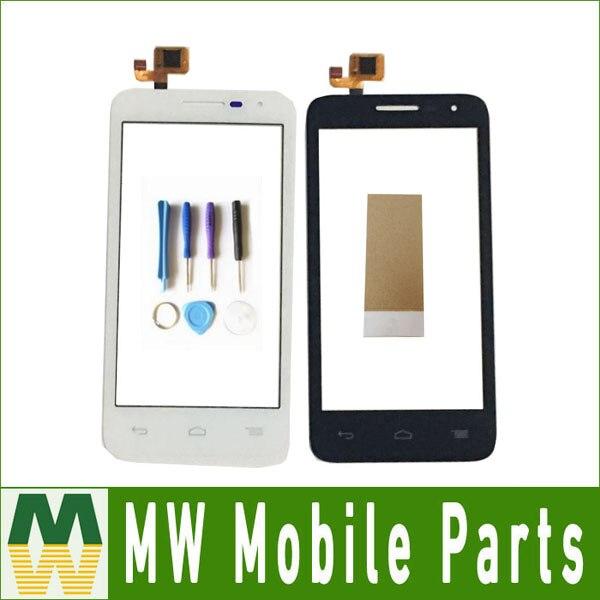 1 PC/Lot Pour Alcatel One Touch POP D5 OT5038 5038 5038A 5038D 5038E 5038X Écran Tactile Digitizer Avec Ruban Noir Blanc couleur