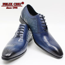 LUXURY HANDMADE MEN SHOES LEATHER SOLID BLUE BLACK OFFICE BUSINESS WEDDING DRESS POINTED TOE CASUAL SHOES MEN SUMMER OXFORD MEN(China)