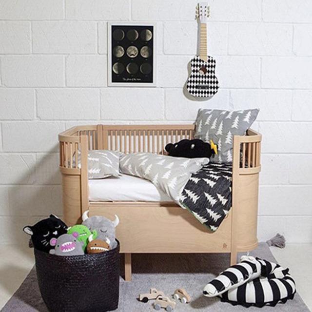 Black and white stripes Stuffed Crocodile Toys Plush Baby Bumper Crib Bed Protector Cotton Sofa Cushion Children Room Decor