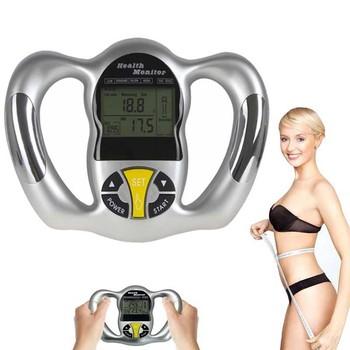 Przenośny cyfrowy LCD ekran ręczny BMI Tester LCD tkanki tłuszczowej Monitor opieki zdrowotnej analizator miernik zawartości tłuszczu w wykrywania slim odchudzanie narzędzie tanie i dobre opinie Tkanki tłuszczowej monitory Body Fat Monitor 24*15 9*3 8cm