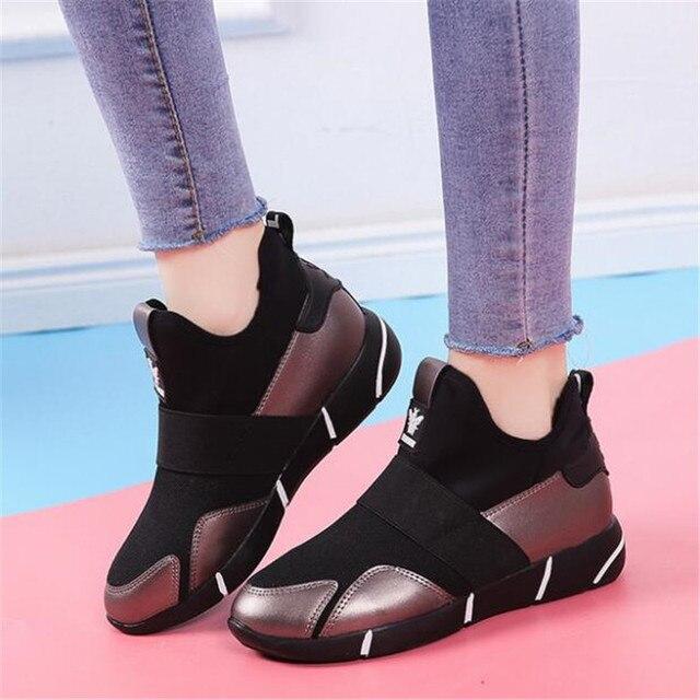 2019 Femmes Sneakers chaussures vulcanisées Dames chaussures décontractées Respirant Marche chaussures plates en maille grande taille chaussures couple size35-40 1