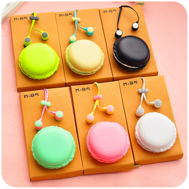 Cute Macarons Candy Color Stereo in-ear Earphones Ear phone Earbuds for iPhone Samsung Girl for XIAOMI MP3 MP4 Music Player Gift new original black full lcd display