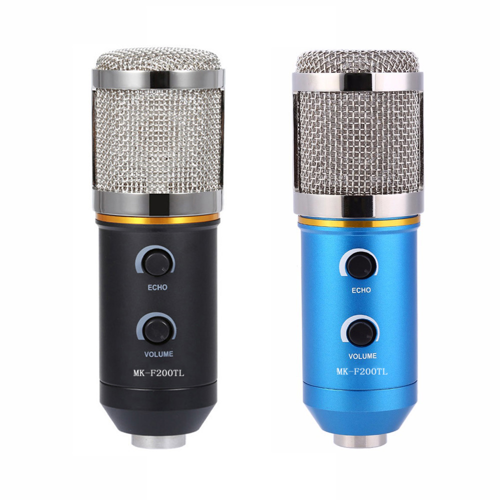 TGETH MK-F200TL Microphone Adjustable Sound Volume Noise Reduction Condenser KTV Audio Studio Recording Mic Update MK-F100TL best quality yarmee multi functional condenser studio recording microphone xlr mic yr01