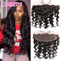 Hot Sell 13x4 Lace Frontal With Bundles Loose Wave 7A  Human Hair Brazilian Virgin Hair Loose Wave Hair 3 Bundles   With Closure