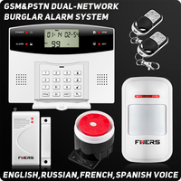 Draadloze Bedrade Alarmsystemen LCD Toetsenbord GSM PSTN Huis Alarmsysteem Voice Inbraakalarm afstandsbediening ARM