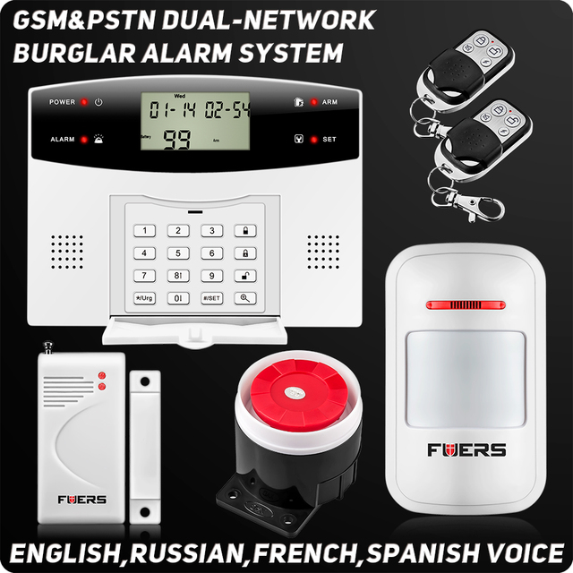 Delightful Wireless Wired Alarm Systems LCD Keyboard GSM PSTN House Security Alarm  System Voice Burglar Alarm Remote