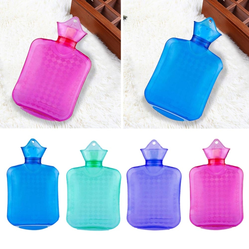 Hand Warmer Hot Water Bag Transparent Colorful Water-filling Hot Water Bag High Density Pvc Winter Foot Hand Warmer #922