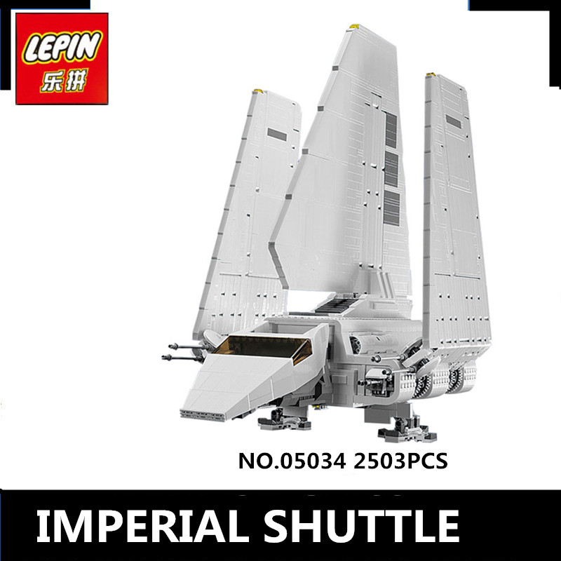 IN STOCK LEPIN 05034 2503Pcs Star Wars Imperial Shuttle Model Building Kit Blocks Bricks Compatible Children Toy Gift With 10212 lepin 22001 pirate ship imperial warships model building block briks toys gift 1717pcs compatible legoed 10210