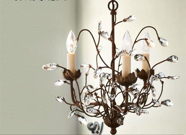 Modern K9 Retro branches Crystal Chandelier 3 Lights Lamp Lighting Diameter 16 5 42CM LPL 3