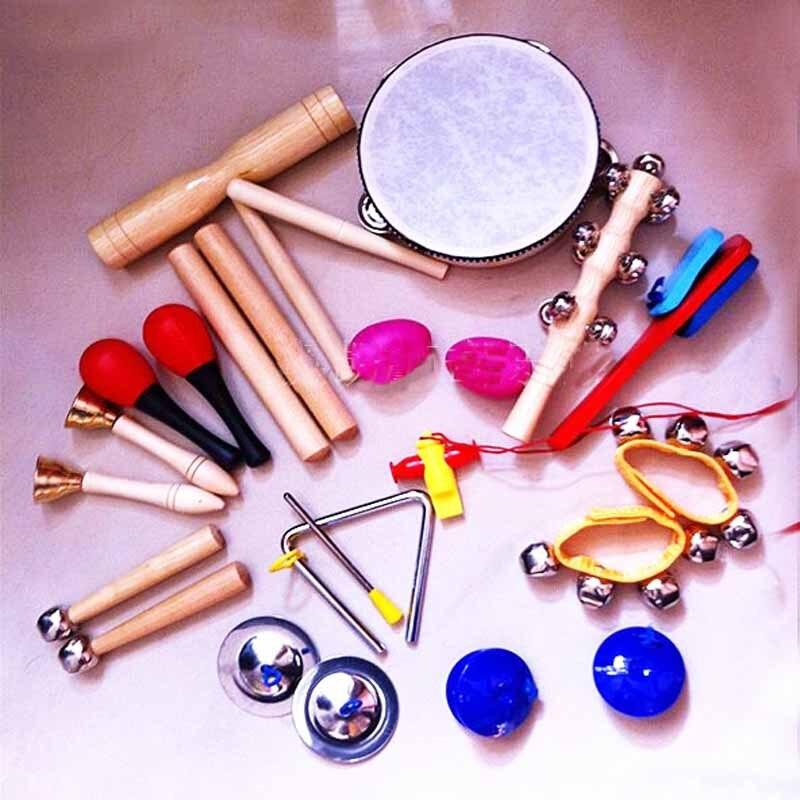 14 pièces/ensemble jouet de musique pour bébé enfants Instrument de musique MontessoriToy infantile bébé jouet pour musique son éducation Instruments bébé