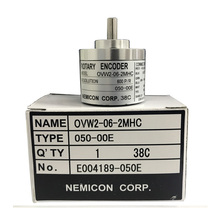 6mm shaft 38mm outer High quality  optical encoder OVW2-06-2MHC 2MHT 2MD 600 pulse rotary encoder original NEMICON encoder free shipping calt alternative nemicon rotary encoder 10mm shaft encoder 58mm outer dia socket out line driver