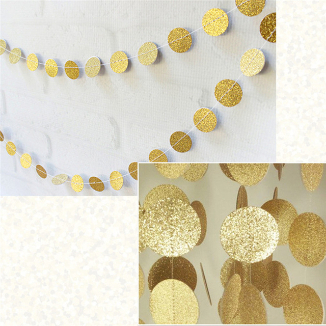 4m Round Double Sided Shiny Garland Paper Strip Bunting Wedding