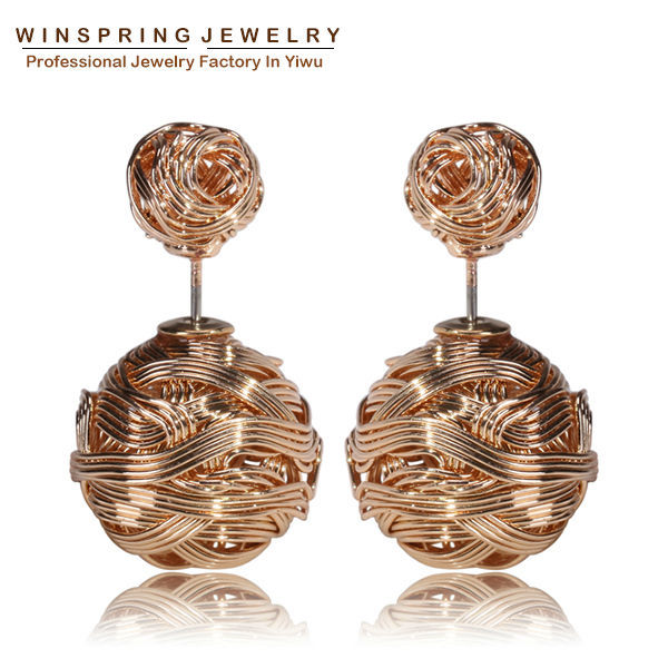Hot Selling Gold Silver Black Gold Plated Earrings...