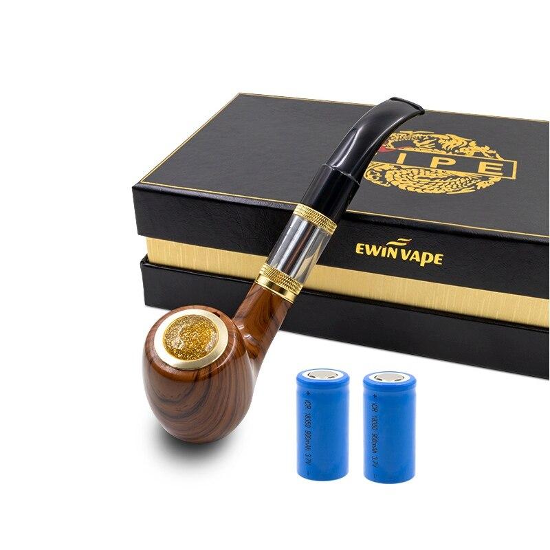 E tubo ePipe 618 Kit con 2 pz 18350 Ewinvape di legno tubo di fumo di Sigaretta Elettronica Vape con legno mod 2.5 ml atomizzatore