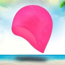 52cf8d0a6 Esporte Da Água Da Piscina de natação de Silicone À Prova D  Água Mergulho  Proteção Touca de Natação Cabelo Comprido Ear Copa .