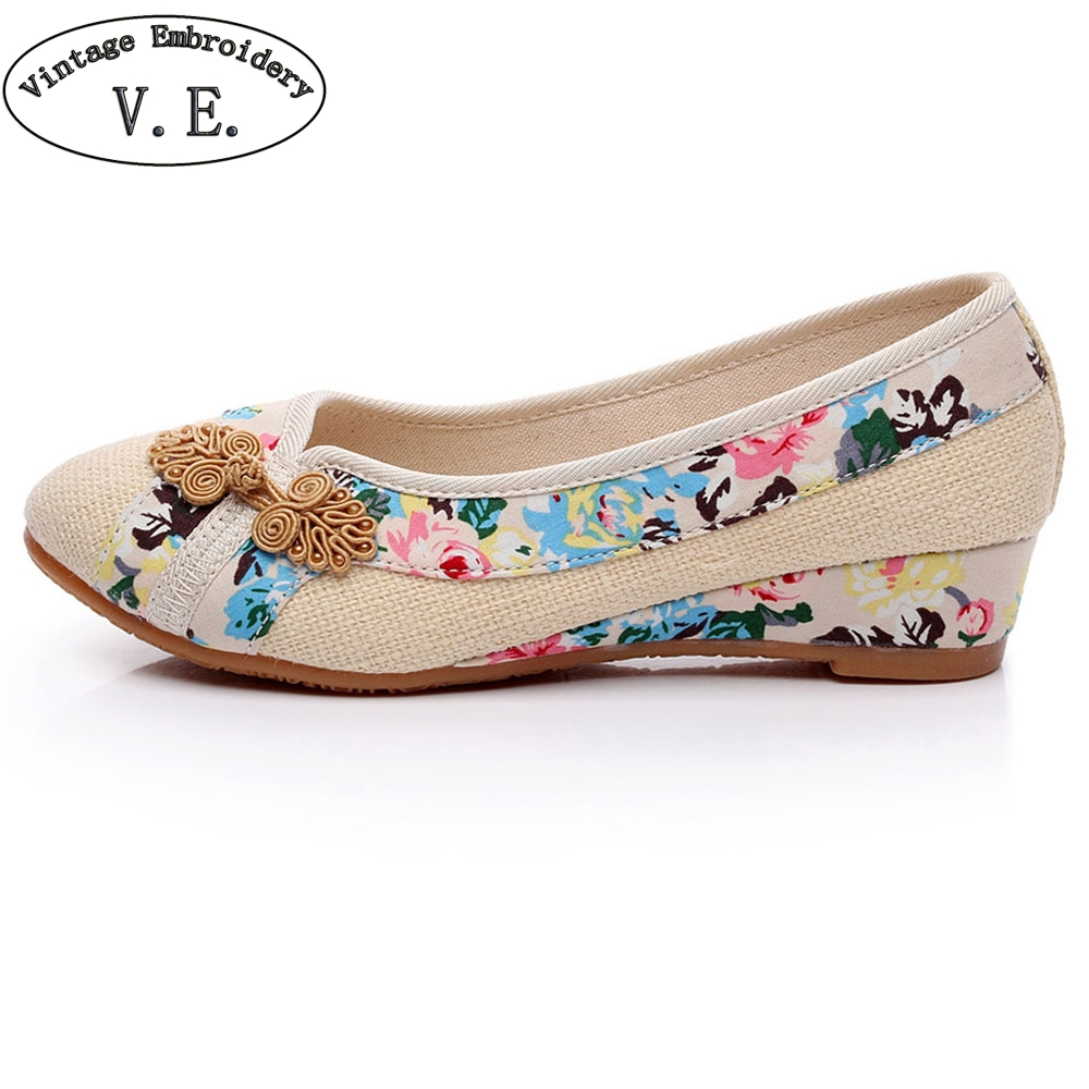 2018 New Women Shoes Old Peking Retro Sping Flats Chinese Flower Embroidery Canvas Linen Shoes Sapato Feminino Size 35- 40 plus size 42 vintage embroidered women shoes flats old peking flower embroidered canvas linen shoes sapato feminino ballet shoes