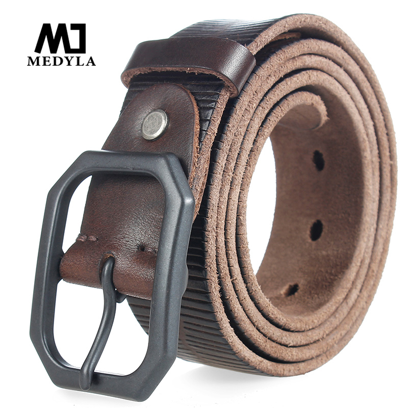MEDYLA 2017 top cow genuine leather belts