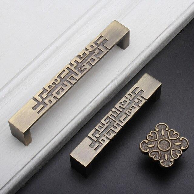 Chinesischen Stil Schublade Schublade Ziehen Griff Bronze ...