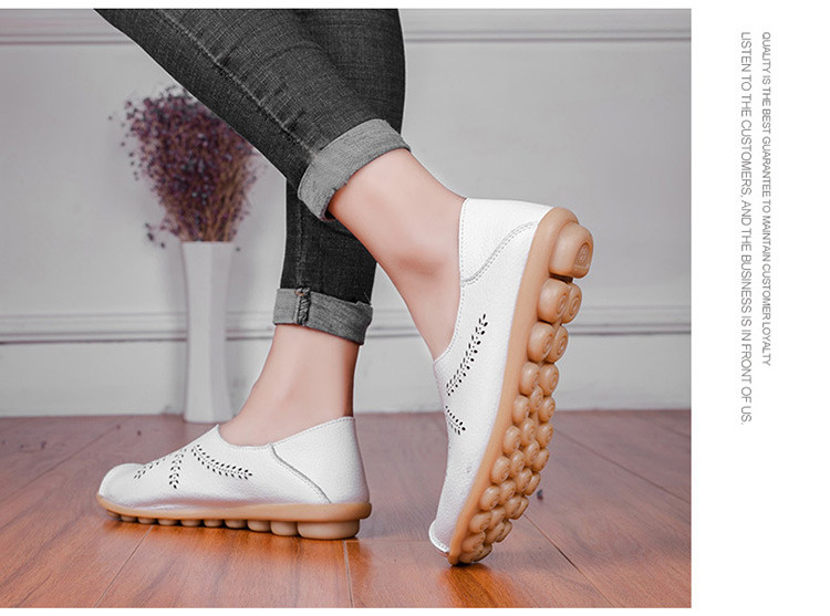 AH 1866-1-2019 Summer Women Loafers Genuine Leather Woman Shoes-12