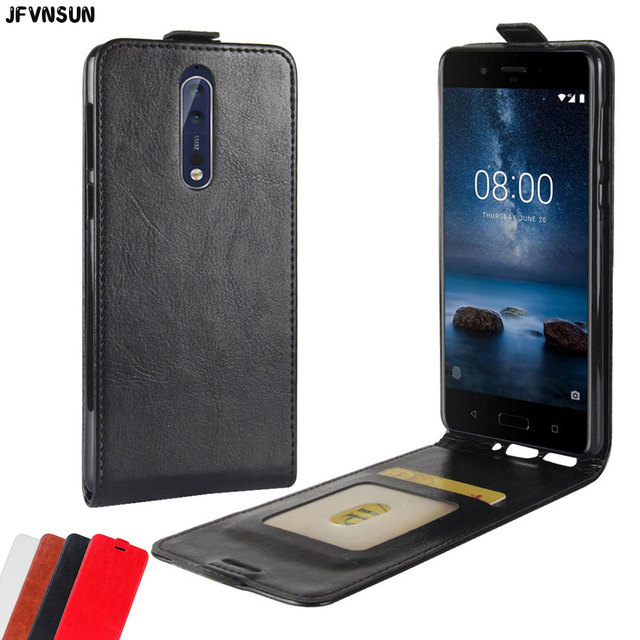 pretty nice 8b350 6a010 US $4.18 15% OFF|For Nokia 8 Case Retro Vertical Leather Flip Case for  Nokia 8 Cover NEW Fashion Magnetic Wallet Card Slot Phone Bag for Nokia  8-in ...