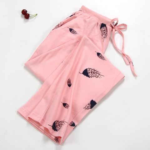 NEW Lady Sleep Bottoms 100% Cotton Pajama Pants Women Piyamas Trousers Woven Lounge Pants Comfortable Pantalon Breathable Pyjama Islamabad