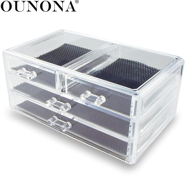 3-Layer Clear Acrylic Make Up Organizer 3 Drawers Storage Box Clear Plastic Cosmetic Storage  sc 1 st  AliExpress.com & 3 Layer Clear Acrylic Make Up Organizer 3 Drawers Storage Box Clear ...