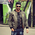 Plus Size S-6XL Thick Loose Casual Style Green Bomber Jacket Men 2016 Autumn Winter Cotton Quilted Jacket Male Coat 1237jack