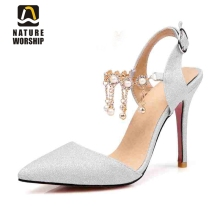 hot deal buy mary janes womens shoes pointed toe pointed toe high heels women pumps elegant rhinestone party pumps wedding shoes big size