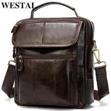Мужская сумка WESTAL из натуральной кожи, сумки через плечо для мужчин, сумка через плечо, мужские кожаные сумки через плечо, мужские сумки 8870