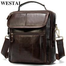 WESTAL erkek çanta hakiki deri Crossbody çanta erkekler omuz çantası erkekler deri tasarımcı erkek omuz çantaları erkek çanta 8870