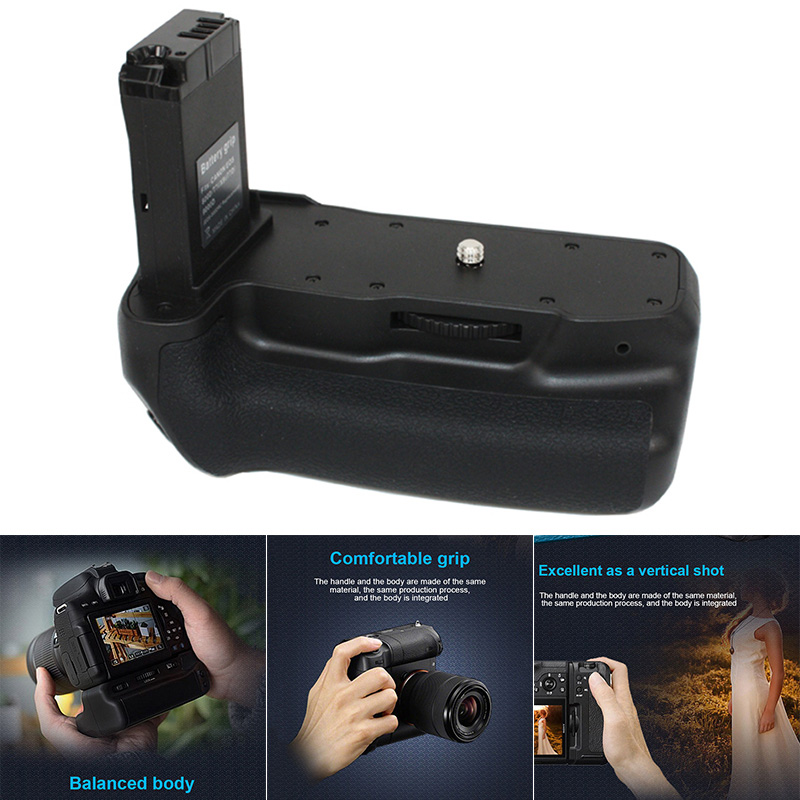 Professional Double Battery <font><b>Grip</b></font> Holder Pack Support Vertical Shooting for CANON EOS800D T7i X9i <font><b>77D</b></font> JR Deals image