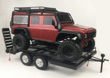 Bouble As Heavy Duty Alle Metalen Trailer Voor 1/10 Rc Rock Crawler Truck Traxxas Trx4 Axiale Scx10 90046 90047 Cc01 d90 D110 TRX-4(China)