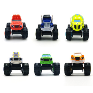 Image 2 - 6pcs/Set Blazed Machines Car Toys Russian Miracle Crusher Truck Vehicles Figure Blazed Toys For Children Kids Birthday Gifts