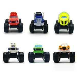 Image 2 - Juego de 6 unidades de camiones y camionetas milagrosos rusos para niños, juguetes Blazed Machines, juguetes para niños, regalos de cumpleaños