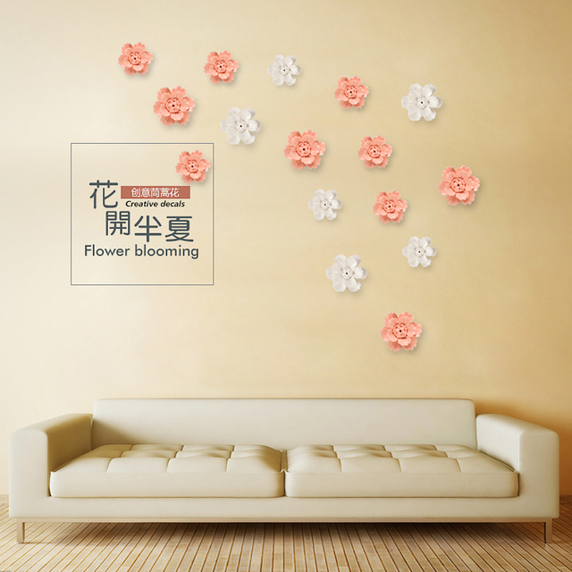 Summer flowers decorative wall flower dishe porcelain decorative ...