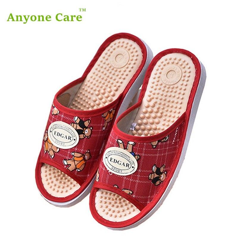 Anyone Care Health care slipper Acupressure Slippers Female health sandal women's feet massage slippers обувь для легкой атлетики health 160