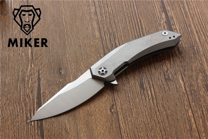 Miker ZT 0095 tactical flipper folding knife D2 blade TC4 Titanium camping knife outdoor EDC tools sharp hunting survival knives ldt f3 folding knife d2 blade titanium tc4 handle camping knives tactical survival outdoor ceramic ball bearing knife edc tools